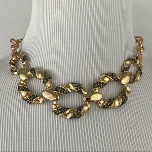 4/$20 A New Day Gold & Gray Crystal Chain Necklace